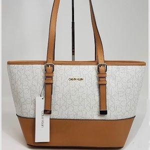 NWT Calvin Klein Tote Hudson Monogram Shoulder Bag
